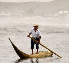 caballitos de totora Standing up to fish and for transport-Stand up paddling gives us humans an amazingly efficient way to travel quickly across a body of water in our naturally favored position. Think about how excited and intrigued you were the first time you saw someone stand up paddling. Tap into your nomadic ancestry and you'll understand how valuable it would have been for hunting and the discovery of safe, more verdant shores. It has a universal appeal.