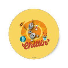 Olaf Chillin' Stickers