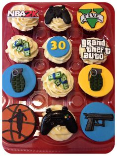 Grand Theft Auto Cupcakes