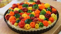 zucchini rose tart