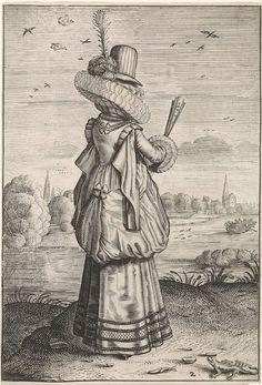 Elegante dame bij hagedis | Dirck Hals, Jacob Matham, 1619 - 1623, engraving | Rijksmuseum, Amsterdam