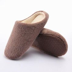 Unisex Warm Winter Pure Color Soft Indoor Slipper Flat Home Shoes