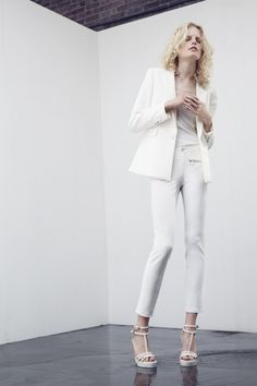 All white is so chic...