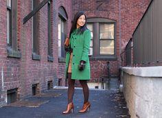 Green J crew Lady day coat