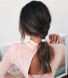 simple and elegant ponytail