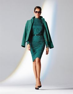 Velvet blazer in the color emerald - green - in the MADELEINE online collection