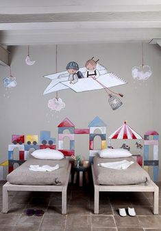 children's room, wall art, greys, simple & modern