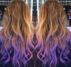 Brown to Purple ombre hair from fohair.com. #ombrehair #brownombrehair…