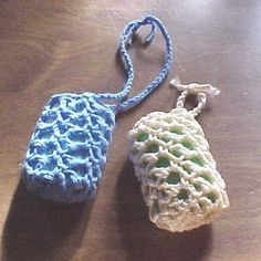 Soap Holder Body Scrubber -- A pattern from the library of the JPF Crochet Club