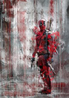 This Deadpool speed painting is my desperate cry - will someone come with me to…