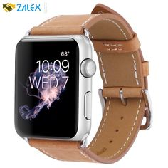 New Apple Watch Band 42mm Genuine Leather iWatch Wrist Replacement Strap 1 2 3 #MARGEPLUS