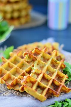 Potatao Waffles with rocket