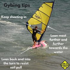 Things to keep in mind during the beginner gybe #windsurfing