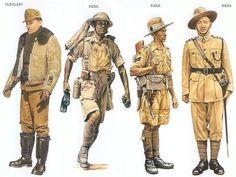 WW2 - Hungary - 1943 May, Southern USSR, Lieutenant, Fighter Squadron India - 1940 Dec., North Africa, Sergeant, 8th Indian Division India - 1941 Dec., Malaya, Corporal, 9th Gurkha Rifles India - 1942 June, Burma, Subedar-Major, 20th Burma Rifles