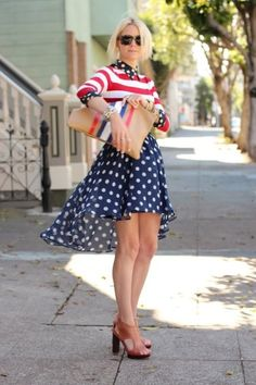 Mix & Match: Stripes & Prints I love this look for #july
