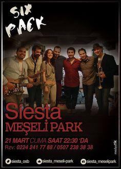 Six Pack Siesta Meşelipark sahnesinde...