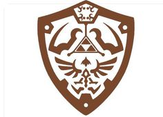"Legend of Zelda Hylian Shield Wall Decor  Room Decal 9"" x 11"" Removeable Vinyl"