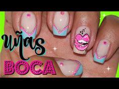 Labios en uñas/Lips Nail Art/uñas beso/decoración uñas boca - YouTube Fire Nails, Nail Art, Youtube, Gel Nail, Work Nails, Flower, Classy Nails, Polish Nails, Zebra Nails