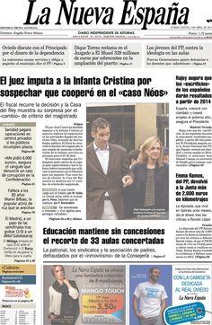 Los Titulares y Portadas de Noticias Destacadas Españolas del 4 de Abril de 2013 del Diario La Nueva España ¿Que le parecio esta Portada de este Diario Español?