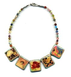 Polymer clay necklace by Montse on Etsy