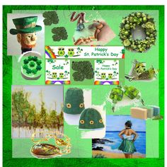 Green for the Spring and St. Patty by owlartshop on Polyvore featuring art, stpatricksday, TintegrityT and EtsySpecialT