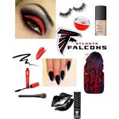 """Atlanta Falcons Game Face"" by arizonaladybirds on Polyvore"