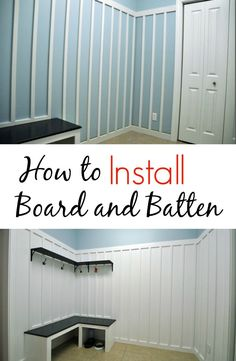How to Install Board and Batten. Great tips!.