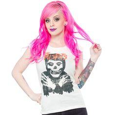 MISFITS CLASSIC SKULL CUT TEE $28.00 #misfits #punk