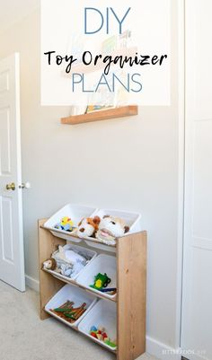 DIY Toy Organizer | build your own toy storage shelf with free plans from Bitterroot DIY