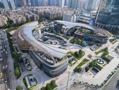 Parc Central adds beautiful green lungs to Guangzhou. Eco-conscious Parc Central adds beautiful green lungs to GuangzhouEco-conscious Parc Central adds beautiful green lungs to Guangzhou Architecture Design, Organic Architecture, Concept Architecture, Amazing Architecture, Landscape Architecture, Landscape Design, Benoy Architecture, Futuristic City, Futuristic Architecture