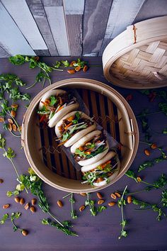 Gua-Baos-LDG Chinese Street Food, Best Chinese Food, Asian Street Food, Gua Bao, Bao Bar, Asian Recipes, Healthy Recipes, Food Wallpaper, Steamed Buns