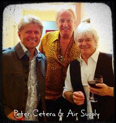 with Peter Cetera I love this picture - great voices together...