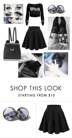 """""""pastel goth witch"""" by michaelislife ❤ liked on Polyvore featuring Alchemy England and WithChic"""