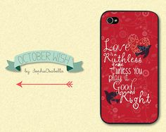 Love Is A Ruthless Game iPhone 4/4S/5 Case - Taylor Swift via Etsy