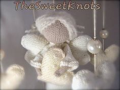 Mobile baby Angel amigurumi knit  pearls and by TheSweetKnots, $130.00
