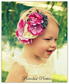 couture flower baby headband