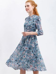 Fun With Flowers Floral Retro Dress