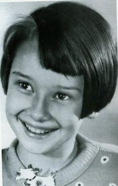 Audrey Hepburn age 10