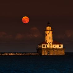 Full Moon navy Pier Chicago by John Harrison Navy Pier Chicago, Chicago City, Chicago Usa, Chicago Lake, Mind Blowing Pictures, Costa, John Harrison, Harbor Lights, The Second City