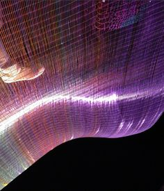 Énergies #lightingdesign exhibition with LED curtain, Hall 7 Maison & Objet Fall 2013