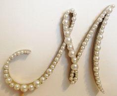 Elegant Pearl Monogram Cake Topper  White or by LLBridalDesigns, $32.50