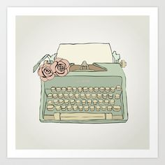 Retro typewriter Art Print by Oksana Palfy - $17.68
