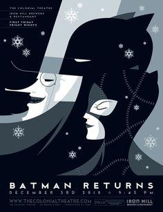Batman & Catwoman Retro Illustration by Tom Whalen Tom Whalen, Batman Kunst, Batman Art, Art Deco Posters, Vintage Posters, Film Posters, Posters Batman, Illustration Batman, Illustration Editorial