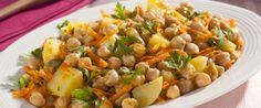 Foto - Receita de Salada de grão-de-bico, cenoura e batata supernutritiva