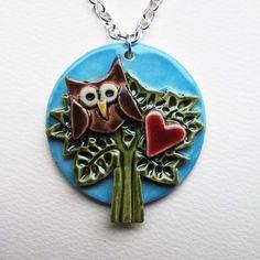 ceramic owl pendant £10.00