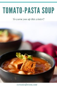 Tomato-Macaroni Soup for winters - Pasta Soup, Macaroni, Food To Make, Chili, Appetizers, Recipes, Macaroons, Chile, Noodle Soup