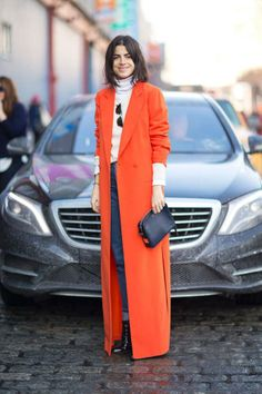 We Love this pop colour on Leandra Medine of The Man Repeller.