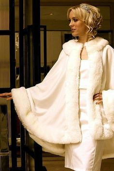 Stunning Winter Bridal Shawl / Ivory Wedding Dress Swing Coat on Etsy, $95.00