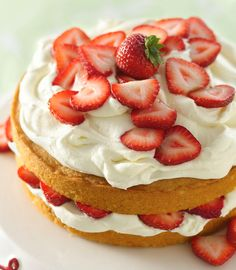 Put a spectacular spin on strawberry shortcake with a buttercream frosting featuring rich white chocolate.