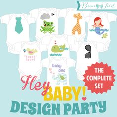 Onesie Party  DIY Baby Shower Outfit Design by BeauTiedAffair, $25.00
